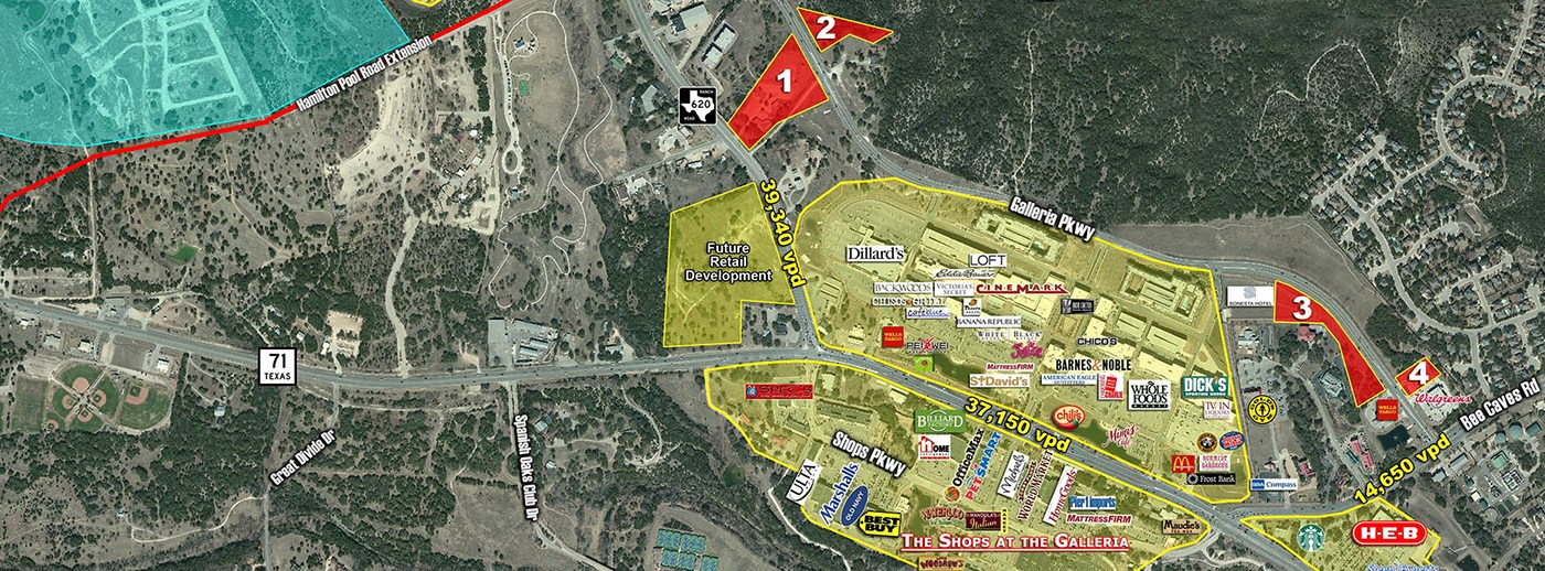 Weitzman Property - Hill Country Galleria Pad Sites
