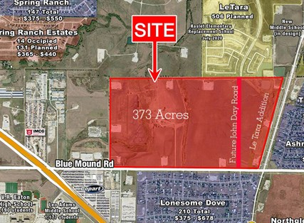 ±373 Acres For Sale in Northwest Fort Worth
