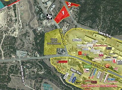 Hill Country Galleria Pad Sites